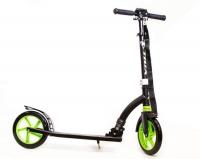 Самокат городской TRIX Neos, колеса 230/230, черный/зеленый