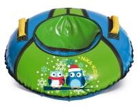 Санки надувные  D-700 с камерой, Совушки, голубой-зелёный